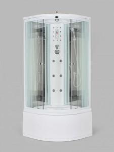 NG-709SN Душевая кабина Niagara, четверть круга, с баней, 100 x 100 см