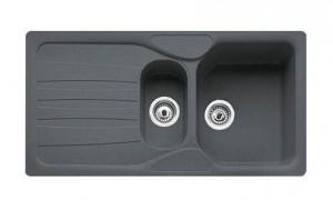 114.0185.008 Мойка Franke CALYPSO COG 651,, гранит, установка сверху, оборачиваемая, цвет графит, 97*50 см