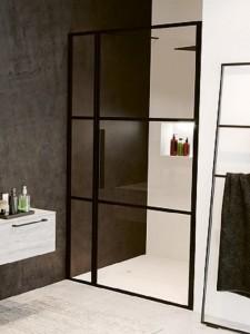 GB1120000 Душевая дверь в нишу Riho Grid XL GB104,, 120 х 200 см с фиксированной частью 30 см