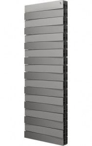 Радиатор биметаллический Royal Thermo PianoForte Tower Silver Satin, 18 секций, серебро