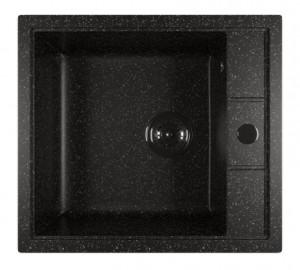 ML-GM28 (308) Кухонная мойка Mixline, врезная сверху, цвет - черный, 51 х 46 х 19 см