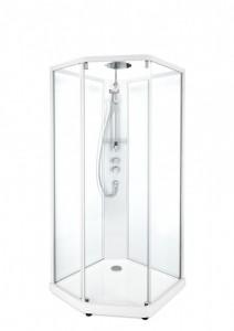 Душевая кабина IDO Showerama 10-5 Comfort, 90 x 90 см, стекло прозрачное, профиль белый
