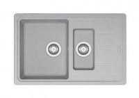Мойка Franke BASIS BFG 651-78, 114.0280.887, гранит, установка сверху, оборачиваемая, цвет серебристый, 78*50 см