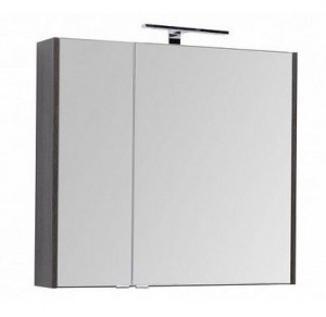 Зеркало-шкаф Aquanet Остин 00200918 85 см, цвет дуб кантербери/белый