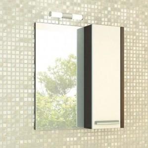 Зеркальный шкаф Comforty Барселона 70 L/R белый/венге