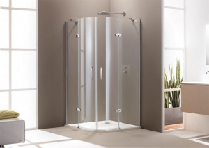 400802 055 321 Душевой уголок Huppe Aura elegance, 110 х 100 х 190 см, стекло прозрачное