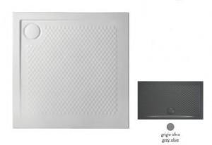 PDQ008 15; 00 Поддон ArtCeram Texture 90 х 90 х 5,5 см,, квадратный, цвет - grigio oliva (серый), из искусственного камня