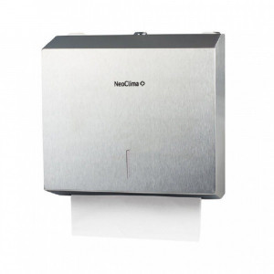 Диспенсер для бумажных полотенец Neoclima D-M1 прямоугольный, нержавеющая сталь