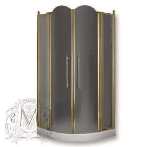 ML.DDM-22.691.ST.BR Душевой уголок Migliore Diadema 90 х 90 х 185 см, стекло матовое