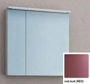 Зеркальный шкаф со светодиодной подсветкой Kolpa San Adele 70 TO 70 RED, цвет - красный матовый (red mat)