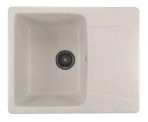 ML-GM26 (331) Кухонная мойка Mixline, врезная сверху, цвет - белый, 59 х 48 х 19 см