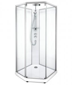 558.202.302 Душевая кабина IDO Showerama 10-5 Comfort, 90 x 90 см, стекло прозрачное, задние стенки прозрачные, профиль алюминий