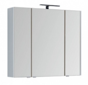 Зеркало-шкаф Aquanet Августа 00210005 100x90 см настенное, цвет белый