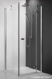 115-900000L-00-02/111-1000000-00-02 Душевой уголок Roltechnik Corner Elegant 100 x 90, левая дверь см, профиль хром