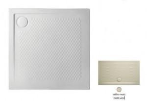 PDQ008 31; 00 Поддон ArtCeram Texture 90 х 90 х 5,5 см,, квадратный, цвет - sabbia matt (бежевый), из искусственного камня