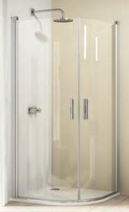 8E1601 055 321 Душевой уголок Huppe Design elegance 8E1601, 80 х 80 х 190 см, стекло прозрачное