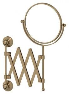 Настенное косметическое зеркало 3SC Stilmar STI 520 двустороннее с 2-х кратным увеличением,, античная бронза