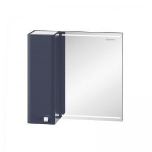 Зеркальный шкаф Edelform Nota 65, с LED-подсветкой, серый глянец