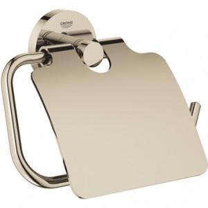 40367BE1 GROHE Essentials Держатель для туалетной бумаги с крышкой, никель глянец