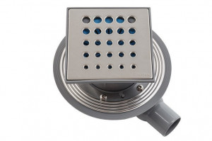 13000009 Трап водосток Pestan Confluo Standard Drops 1 150*150 нержавеющая сталь без рамки