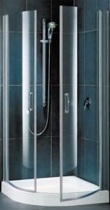ES 0080 07 02 Душевой уголок Vegas Glass ES профиль матовый хром, стекло шиншилла, 80 x 80 x 190 см