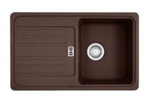 114.0263.461 Мойка Franke EUROFORM EFG 614-78,, гранит, установка сверху, оборачиваемая, цвет шоколад, 78*47,5 см