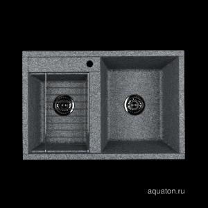 Мойка для кухни Aquaton Делия 78 DBL 2 чаши серый 1A723132DE230