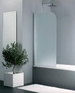 0001 KE 05 GL L Шторка для ванны Provex Elegance 0001 KE 05 GL, стекло прозрачное
