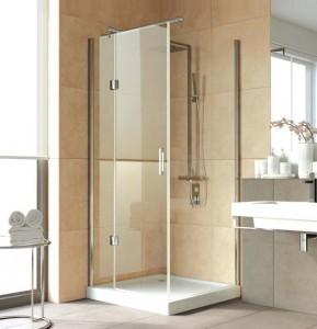 AFP-Fis Lux 100*90 01 R03 Душевой уголок Vegas Glass AFP-Fis Lux белый профиль, стекло фея, 100 x 90 x 199,5 см с подъемным механизмом