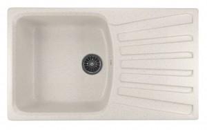 ML-GM20 (331) Кухонная мойка Mixline, врезная сверху, цвет - белый, 85 х 49.5 х 19 см