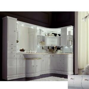 Комплект мебели Eurodesign Luxury Композиция № 5, Grigio Lux Lucido/Серый глянцевый