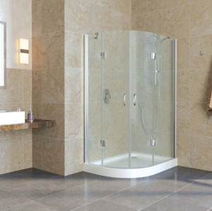 AFS-F lux 110*100 07 01 Душевой уголок Vegas Glass AFS-F Lux, 110  x 100 x 199,5 см, стекло прозрачное