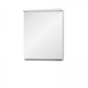Зеркальный шкаф Edelform Amata 60, с LED-подсветкой, белый глянец