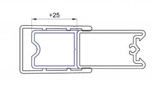 ACA1.50.2000 Компактный выравнивающий профиль для стекла из алюминия SanSwiss