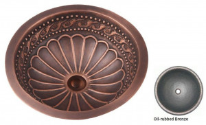 R303_oil_rubbed_bronze Раковина медная Bronze de Luxe R303, цвет - Oil Rubbed Bronze (потертая бронза), 42 х 42 х 15 см