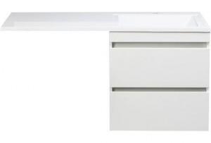 CC-00000469/CC-00000394 Тумба с раковиной Style Line Даллас 120, белая люкс plus, подвесная, правая