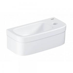 3932700H GROHE Euro Ceramic Компактная раковина 37 см с гигиеническим покрытием, альпин-белый