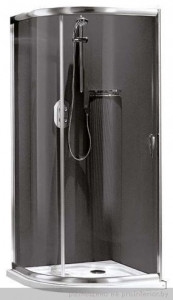 141052200 Душевой уголок Relax Loft, 90 х 90 х 190 см, стекло шиншилла
