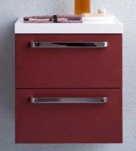 Тумба подвесная Kolpa San Adele OA 45 RED, цвет - красный матовый (red mat)
