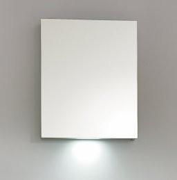 BELBAGNO Зеркальный шкаф с одной распашной дверью с нижней подсветкой дверей, правосторонний SPC-1A-DL-BL-500, 500x130x700
