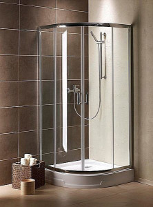 30413-01-01N Душевой уголок Radaway Premium Plus A 30413-01, 80 х 80 х 190 см, стекло прозрачное