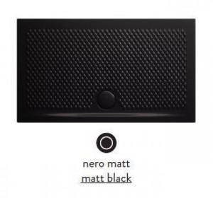 PDR019 17; 00 Поддон ArtCeram Texture 100 х 80 х 5,5 см,, прямоугольный, цвет - черный матовый, из искусственного камня