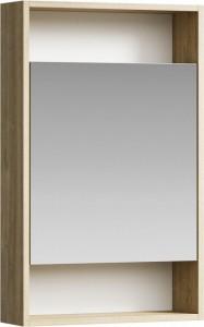 Зеркальный шкаф Aqwella Сити SIT0405DB 50 x 80 см настенный, дуб балтийский