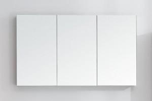 BELBAGNO Зеркальный шкаф с двумя зеркальными дверцами и одним зеркальным полотном с нижней подсветкой дверей SPC-3A-DL-BL-1200, 1200x126x700