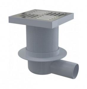 APV5411 Душевой трапAlcaplast 150x150/50 выпуск боковой, гидрозатвор