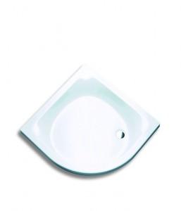 5583 Душевой поддон Hoesch VALDIVIA 80 x 80 x 6,5 см,, полукруглый, R480, из искусственного камня