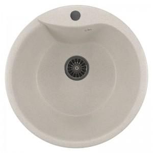 ML-GM12 (331) Кухонная мойка Mixline, врезная сверху, цвет - белый, 48.5 х 48.5 х 21 см
