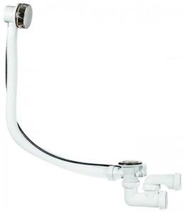 30975014 Слив-перелив полуавтомат Wirquin с внешним кабелем и регулируемым сифоном, L700 мм