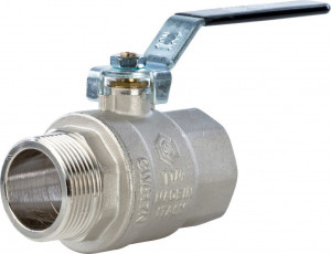 SVB-0003-000032 Шаровый кран Stout SVB-0003 1 1/4 нар-вн, полнопроходной, ручка рычаг