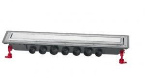 Трап Wirquin Venisio Expert 30717576 110 см с двусторонней решеткой нерж.сталь/под плитку